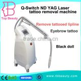 Factory price 1320nm/1064 nm /532nm Q-Switch nd yag laser for tattoo removal&birthmark&nail fungus&black doll