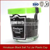 Gourmet Salt Gift Sets Packing Himalayan Black Salt 7oz 198g Glass Jar With Plastic Cap 6 Colors Available