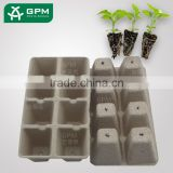 Factory Price Eco freindly Pulp Paper Flower Compostable Seeding Trays For Garden Seeds Flower Pot For Plant