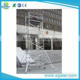 Aluminum material used scaffolding truss with plywood Work platform