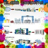 PP/HDPE Plastic Flat Yarn Extrusion machine, tape drawing machine. For PP woven bag making