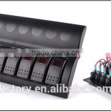 Excellent 8 Gang 12V 24V LED Rocker Switch Panel With Circuit Breakers