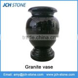 Best selling black granite tombstone vase