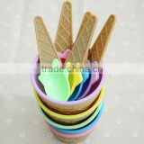 High Quality 2-Sets,Kids Ice Cream Bowl Spoon Set Cute Children Feeding Tableware Plastic Bowl