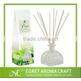The transparent glass jar with rattan sticks air freshener refill