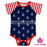 America Independence Day Children Jumpsuits Pom Short Sleeve Printed Pattern Adult Baby Romper