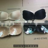 Sexy Women Push Up Bra Front Closure Self-Adhesive Silicone Gel Invisible Bra Seamless Strapless Backless Bra plus size DD E F G