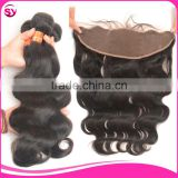 13X4 Frontal Lace Closure With Bundles, Body Wave Virgin Brazillian Hair Bundles With Closure