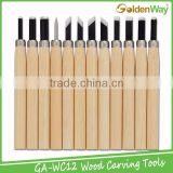 Cheap 12 Kinds of Knife Shapes Wood Carving Hand Tools for Chisel