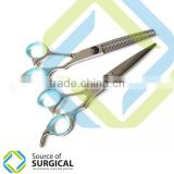 New Professional Zibra Pattern Hairdressing Scissors and Thinning, Thinning Razor with Kit By Source Of Surgical