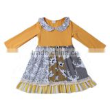 2016 supplier kids clothing wholesale long sleeve fall&winter style unique children frocks designs