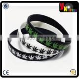 Cannabis Marijuana Weed Leaf Silicone Rubber Bracelet Wristband/sex toy for man