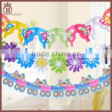 Color Paper Pull Flowers Birthday Party Decoration Room Layout Banners