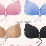 Sexy Push Up Bra Silicone Lace Up Invisible Strapless Bras for Women