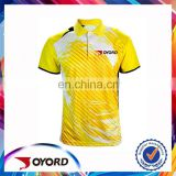 Accept small order sublimated golf shirt, wholesale yellow adult golf wear