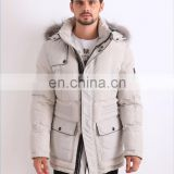 top10 fashion brands custom white winter down jacket for men