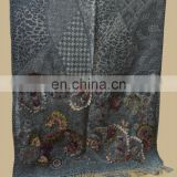 Woolen embroidery shawl