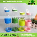 Clear Inner Glass Water Bottles With Silicone Sleeve