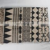 Home decor indian vintage multi color Hand Woven Block Print area rugs and carpet