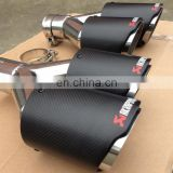 newest carbon fiber muffler pipe exhaust muffler tip