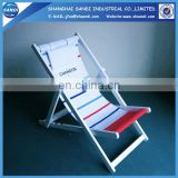 Customized reclining wooden deck chair