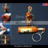 logo torch keychain with bottle shape