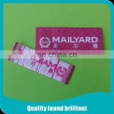 customized woven label for women clothing manufactory