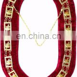 REGALIA MASONIC KNIGHT TEMPLAR METAL CHAIN COLLAR RED
