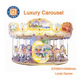 Zhongshan hot selling outdoor amusement theme park equipment Carousel, merry go round 18 seat Luxury Carousel earn money