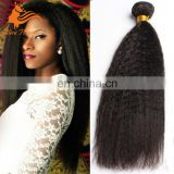 Virgin Bralizlian Kinky Straight Hair Weave 3 Bundles Italian Yaki Human Hair Bundles