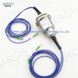 JARCH 12mm IP54,IP66,IP68 Double Channel FORJ / Fiber Optic Rotary Joint Cable Joint With Stainless Steel House
