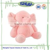 Soft plush baby toy pink elephant stuffed plush toy