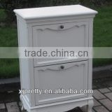europe style modern white wooden shoes cabinet