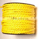 Round Braided Leather Cord 4 Ply * 2 Cord Bolo