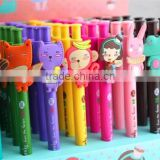 Cheap Promo Cheap School Kids Pen Little Cartoon Animals Customize Students Gel Pen Cool Marker Gift Plastic Ball Pen