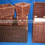 Maize storage basket with cut out handles except wastebasket,set of 6,handicraft,large storage box