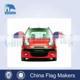Economic portable and convenient advertising car mirror cover flag                                                                         Quality Choice
