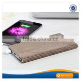 AWC936 2016 Newest High Capacity Power 8000mAh Wooden Power Bank For Mobile Phone Lithium Battery Charger