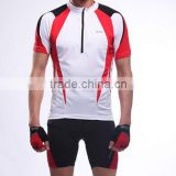 Red white and black color crane sports road bike cycling wear custom cycling jerseys mountain bike