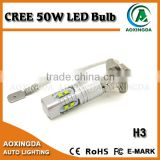 CREE 50W H3 motorcycle led fog light auto LED foglight