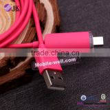 Colorful Micro USB Cable USB 2.0,with LED light USB Data Cable for Samsung Galaxy i9300 i9500 S3 S4