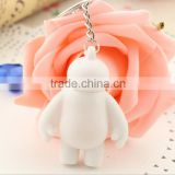 Oem Big Hero 6 Baymax Pvc Figure Keychain Keyring                                                                         Quality Choice