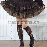 Gothic Multi Layered Lace & Mesh Skirt Black Punk GLP 61141