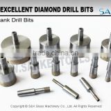 Glass cutting diamond drill bits for sale