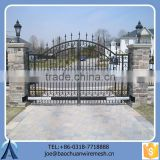 Ornamental Black Lowes Automatic Metal Gate For Garden Factory
