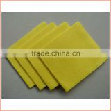 60%viscose, 40%polyester 30x38cm non woven yellow magic cloth, magic clean cloth, magic clean wipes