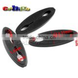 "1/8""(4mm) 2 Holes Flat Soft Sliding Pointed Oval Cord Lock Stopper For Shoelace Paracord Backpack #FLS104"