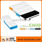 Capacity portable rechargable 18650 cell phone battery 10400mah power bank with LED light for dell,iphone,smartphone