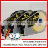 6mm/9mm/12mm yellow tape cassette cable marking labels for cable ID printer MK1500 and MK2500