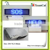 Single bule color P6-7*35B indoor mini led banner signs